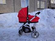 Продам коляску Brevi Ovo 2 в 1, цвет красный,  б/у,  цена 8т.р.
